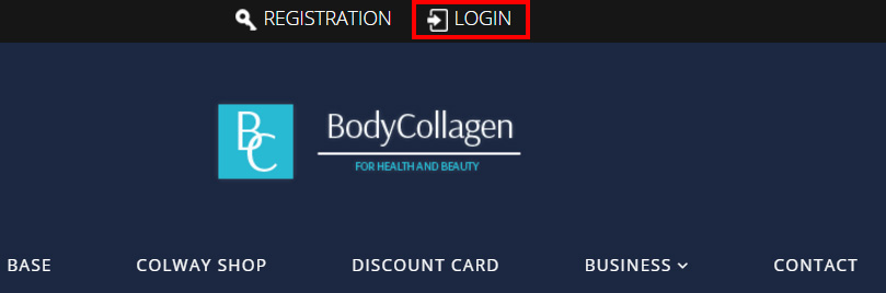Login to bodycollagen.com collagen cosmetics store